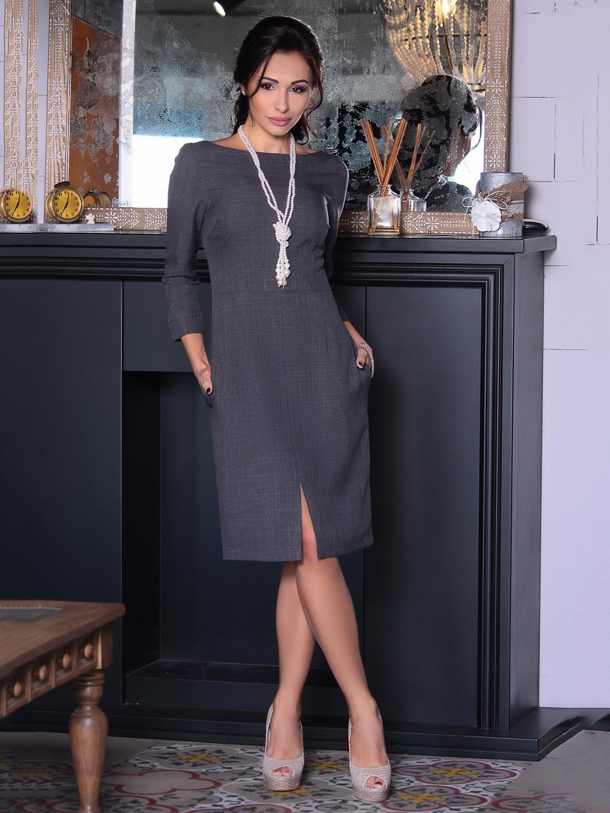 Сукня графітова | 3692812