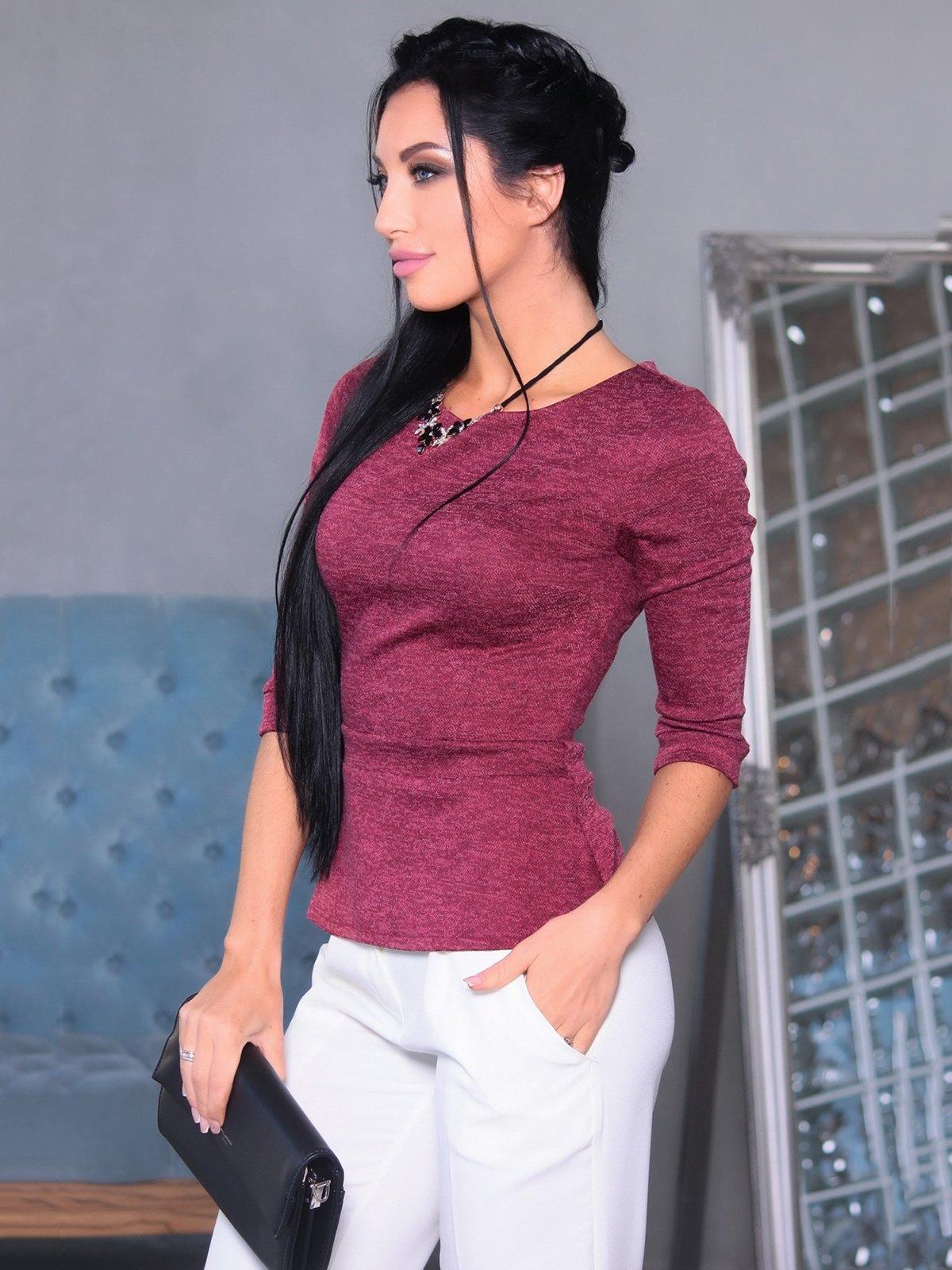 Блуза бордова | 3692834