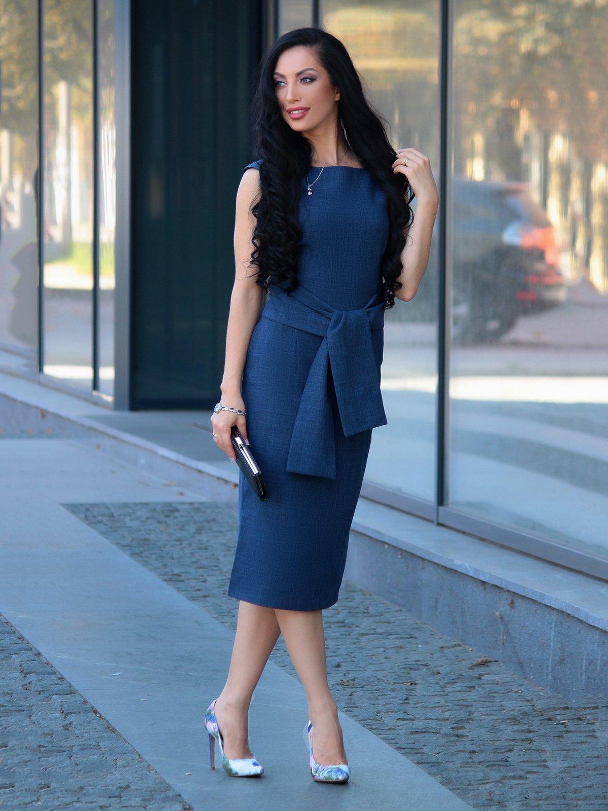 Платье темно-синее | 3692852