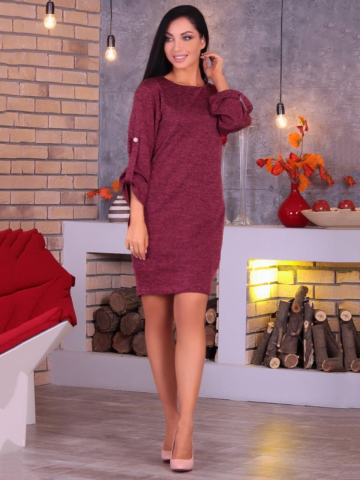 Платье бордовое   3692860