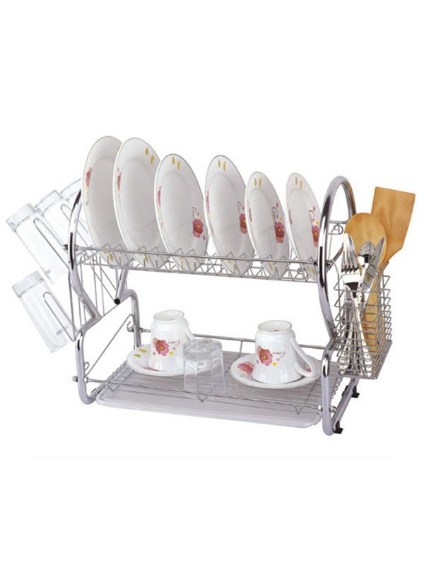 Сушарка для посуду двоярусна (55(45)х25х39 см) | 3699958