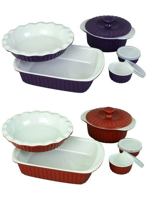 Набір керамічного посуду для запікання (8 предметів) | 3699986