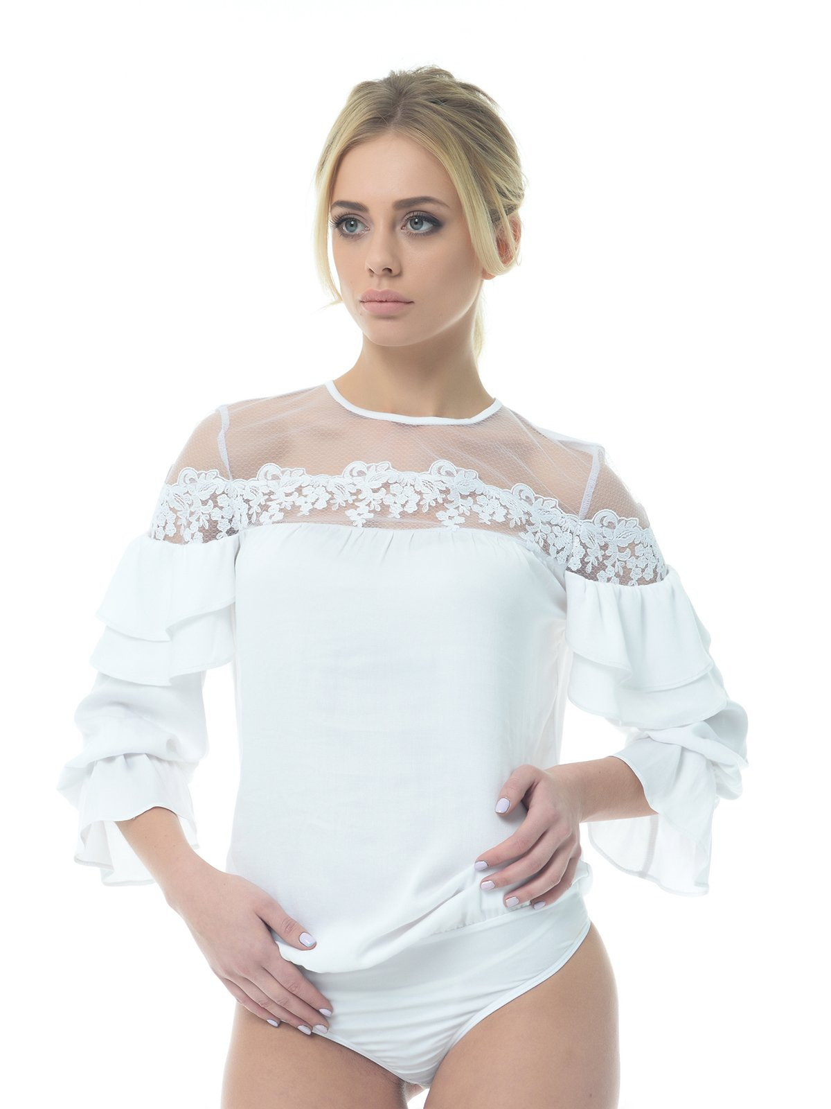 Блуза-боди белая   3665437
