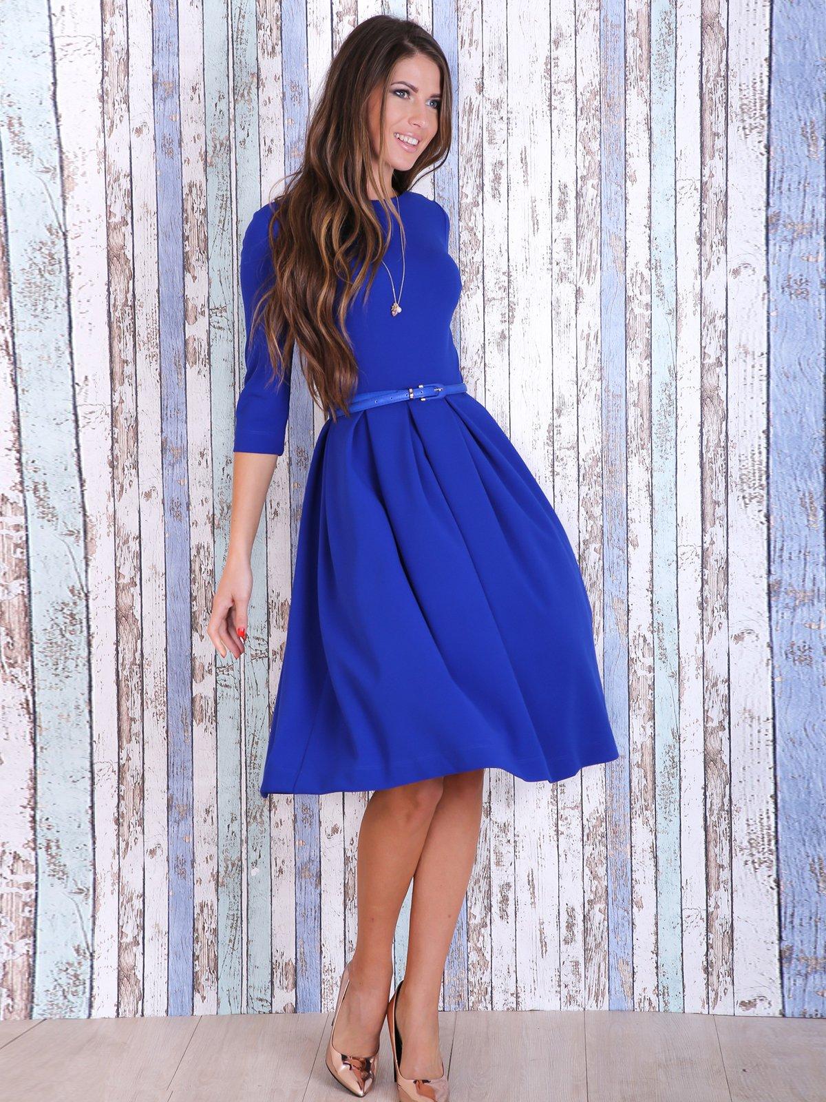 Сукня кольору електрик | 3705681