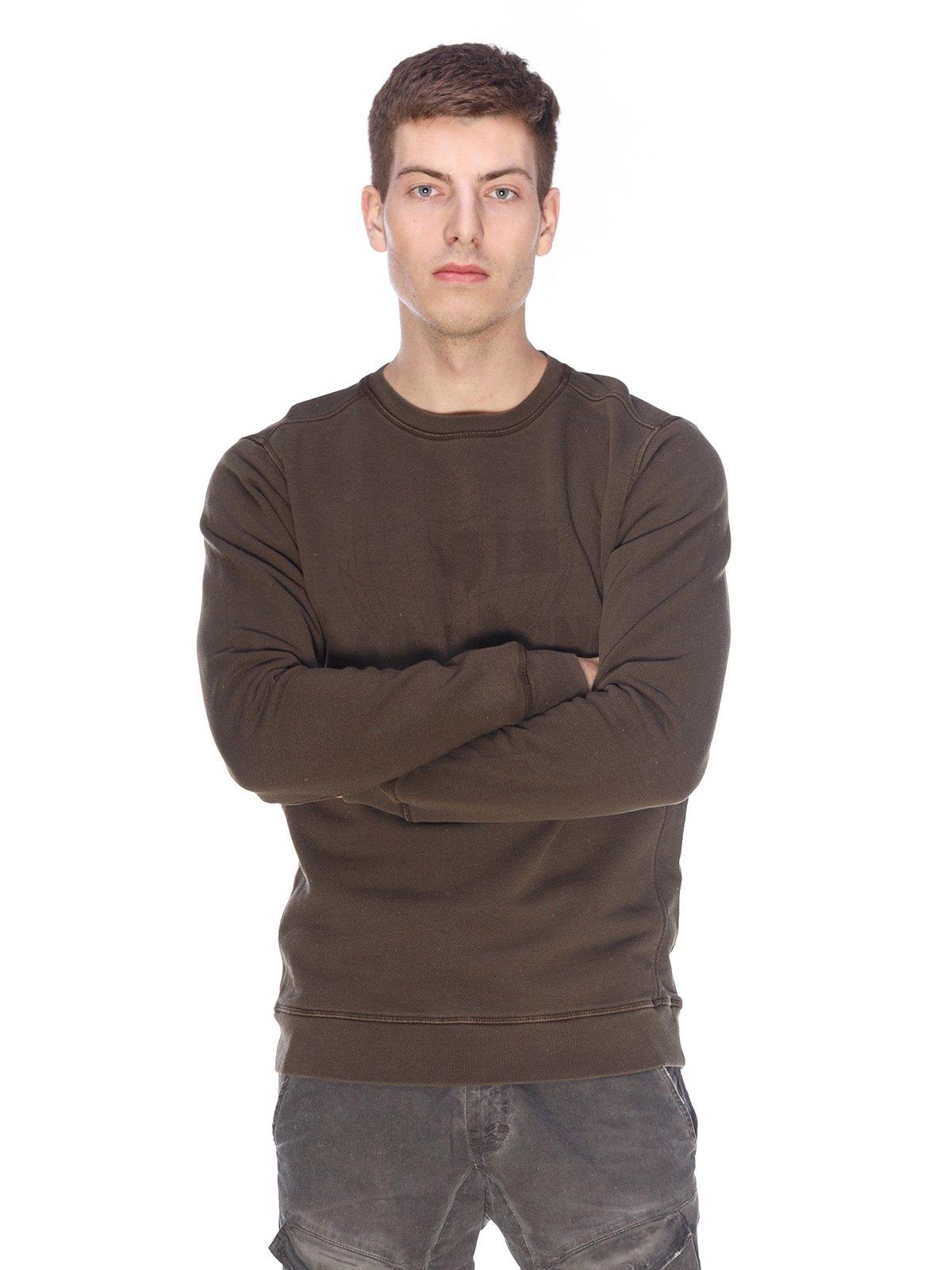 Джемпер кольору хакі з принтом   2632201