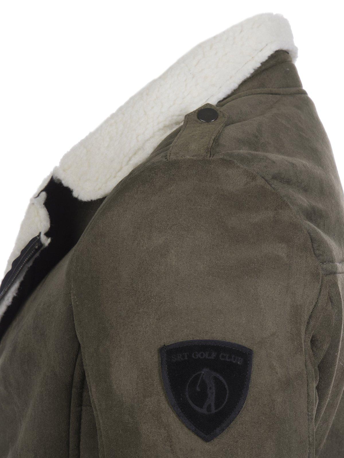 Куртка цвета хаки | 3594270 | фото 3