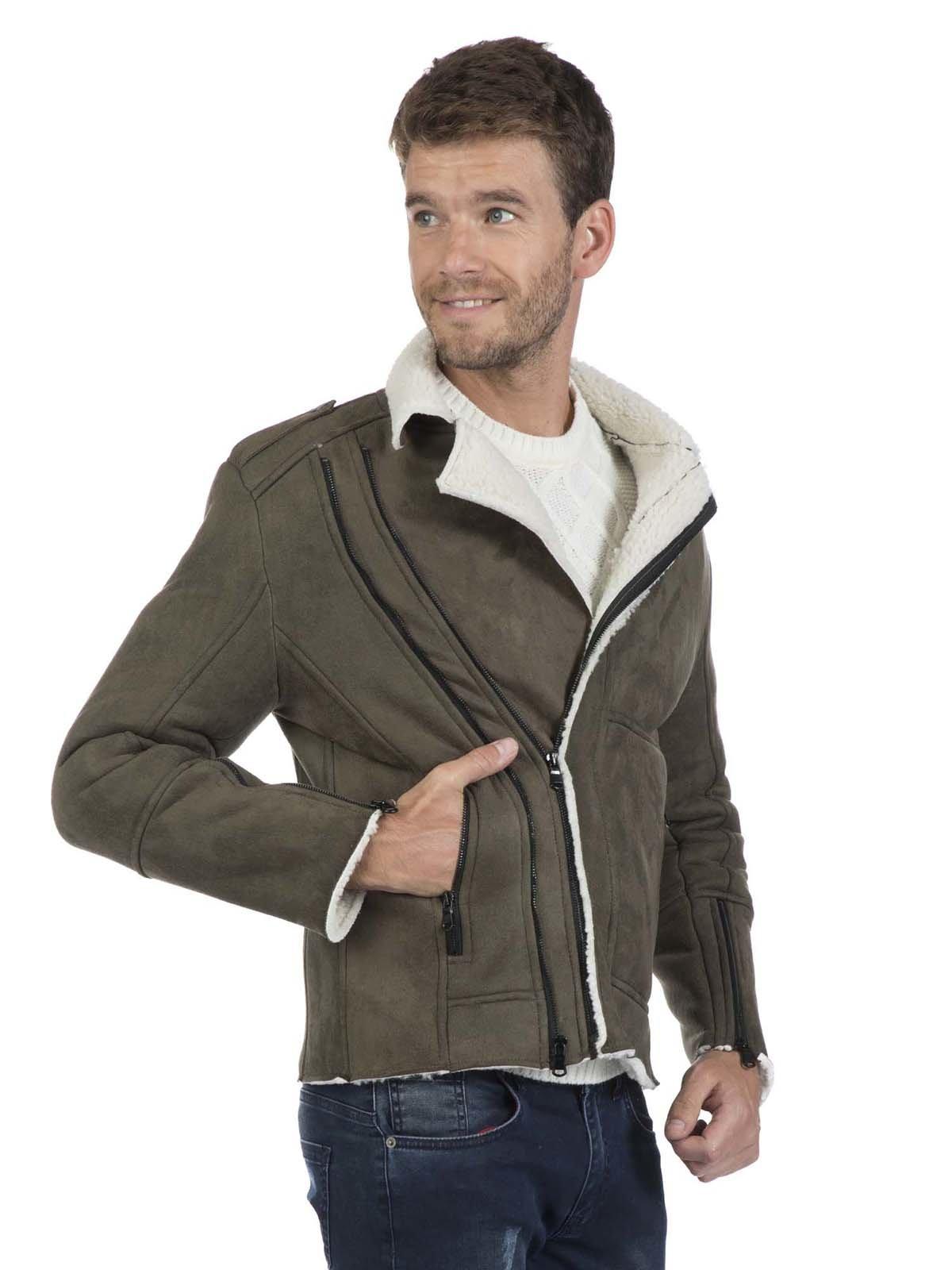 Куртка цвета хаки | 3594270 | фото 5
