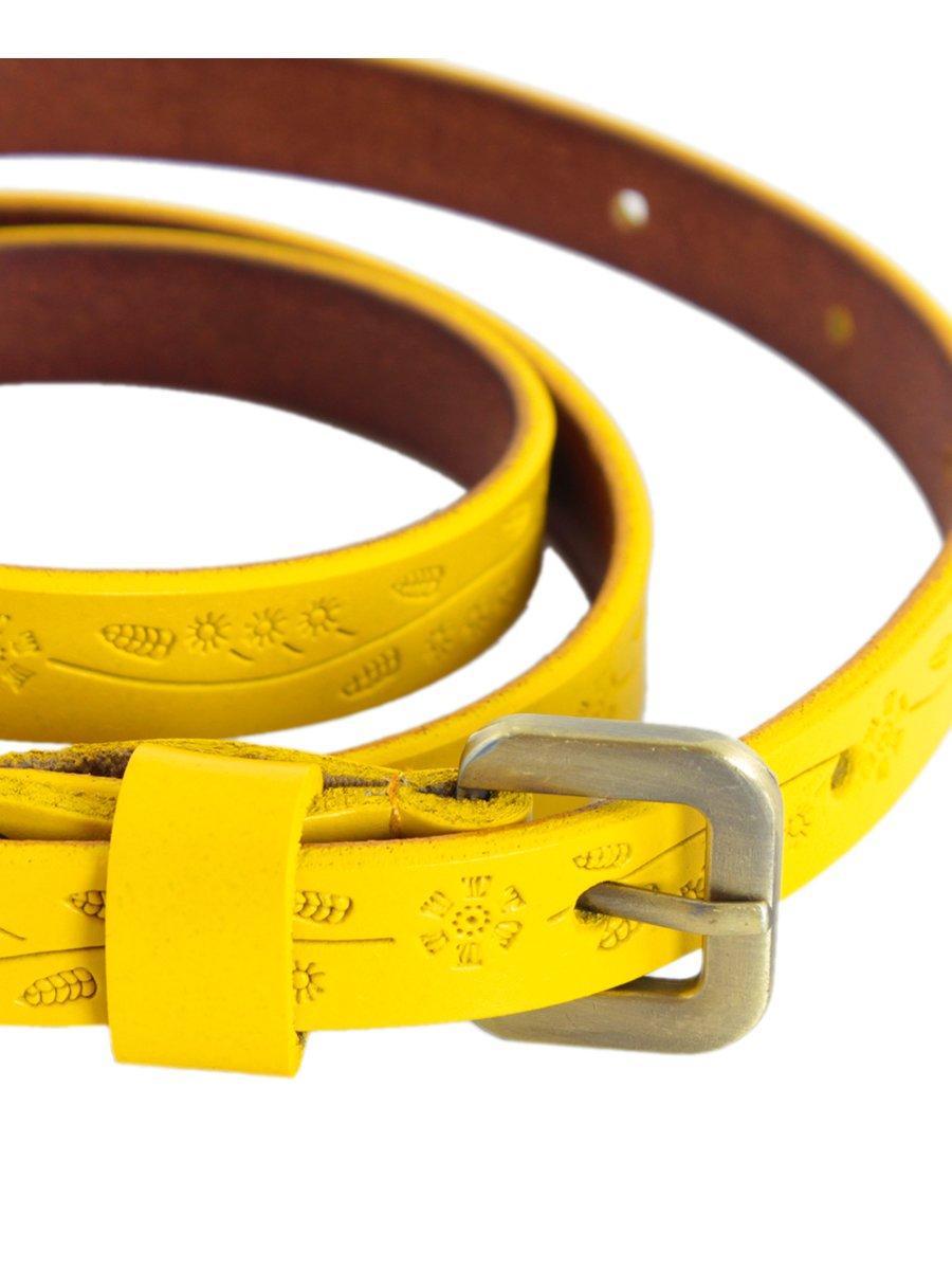 Ремінь жовтий з тисненням | 3256548 | фото 4