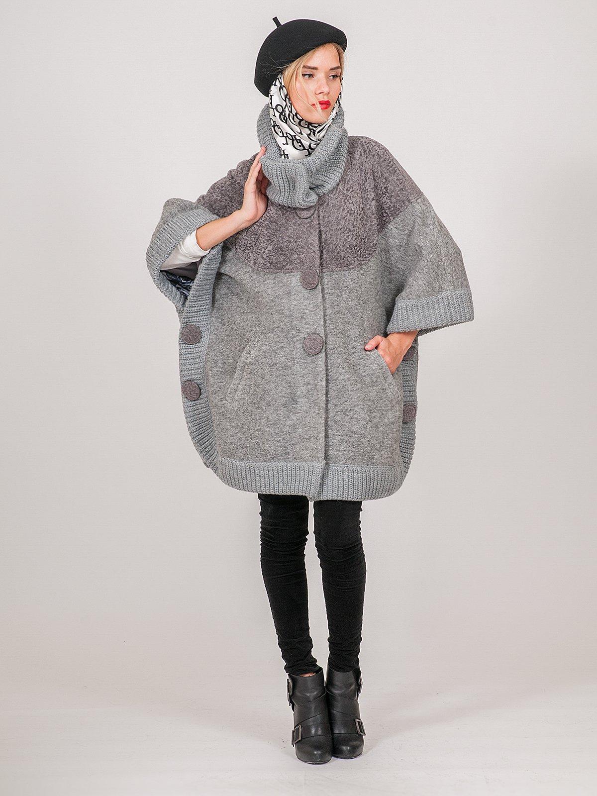 Пальто серое | 3652904 | фото 2