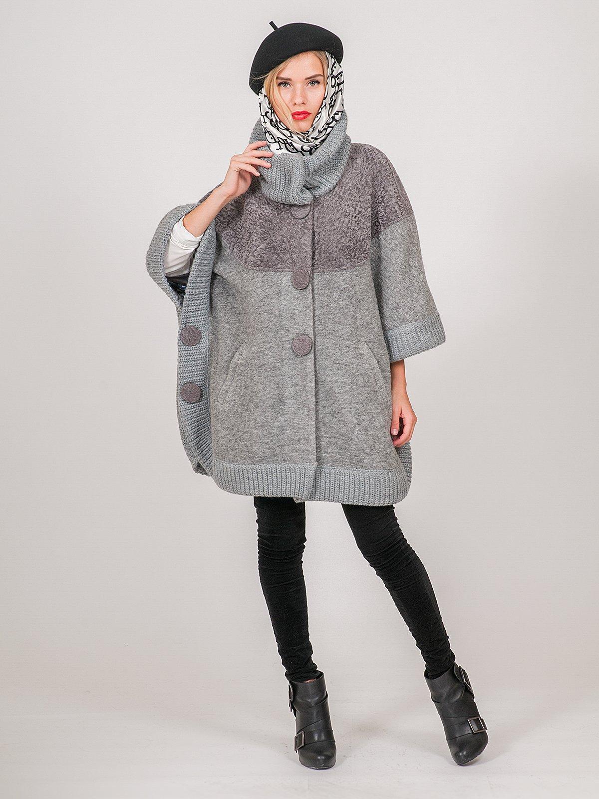 Пальто серое | 3652904 | фото 3
