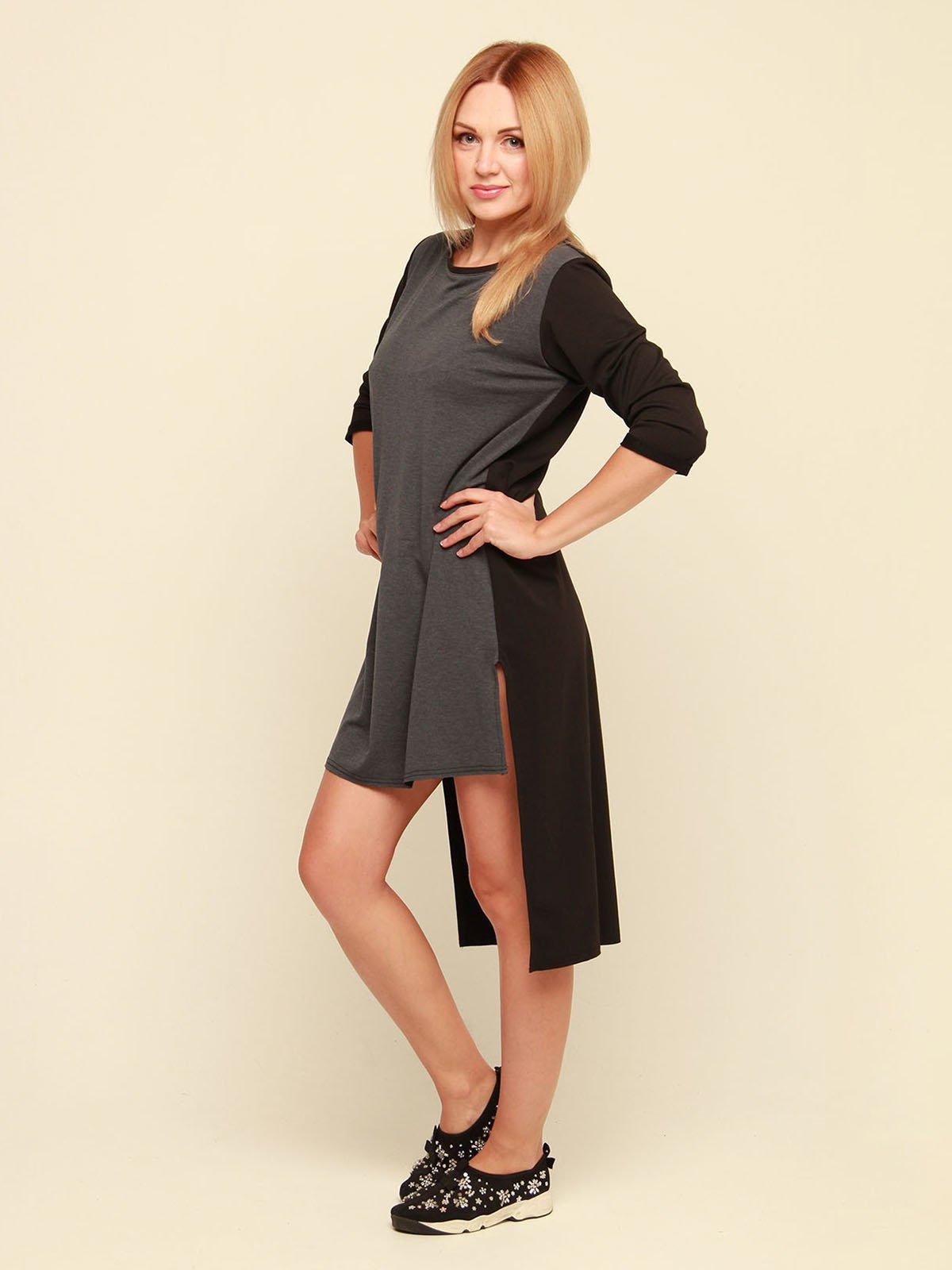 Платье серо-черное | 3710820 | фото 2