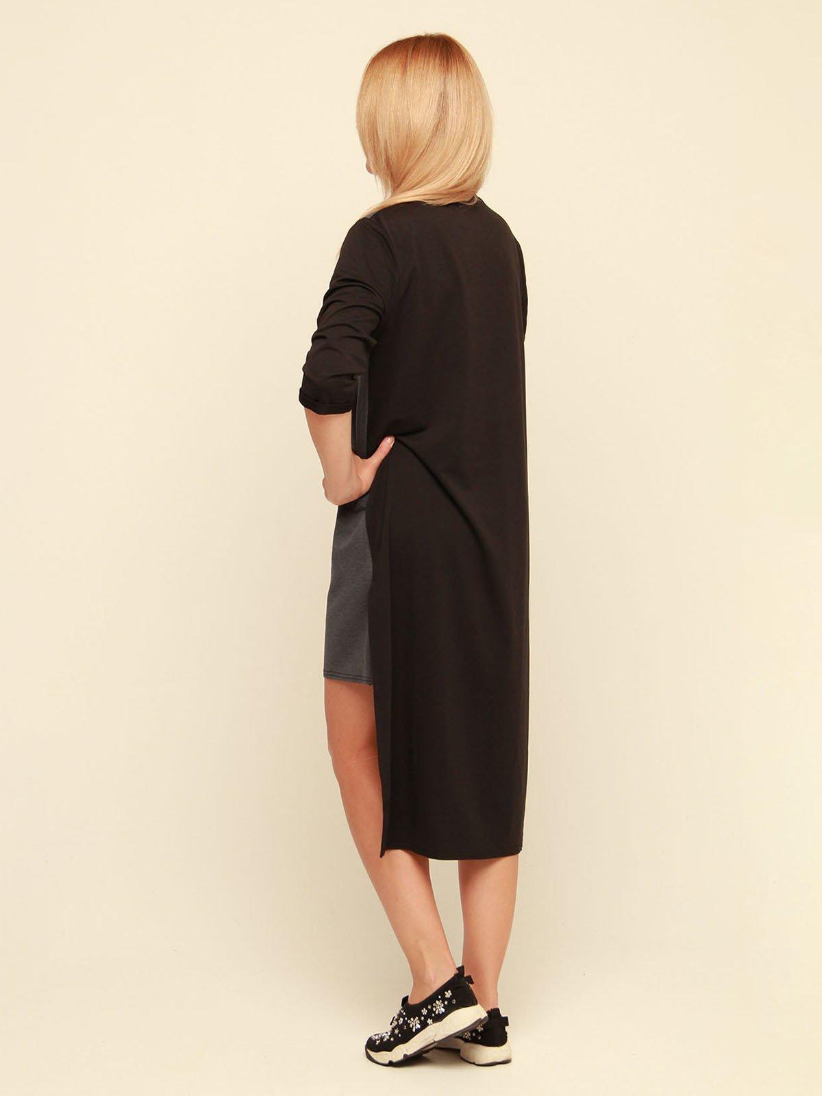 Платье серо-черное | 3710820 | фото 3