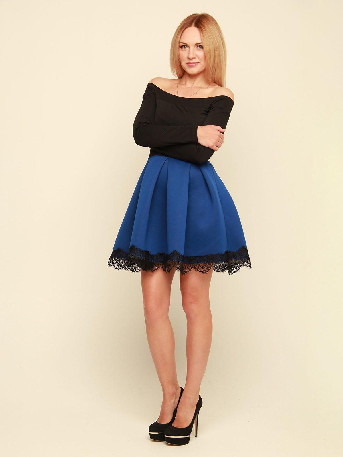 Платье двухцветное | 3710828 | фото 2