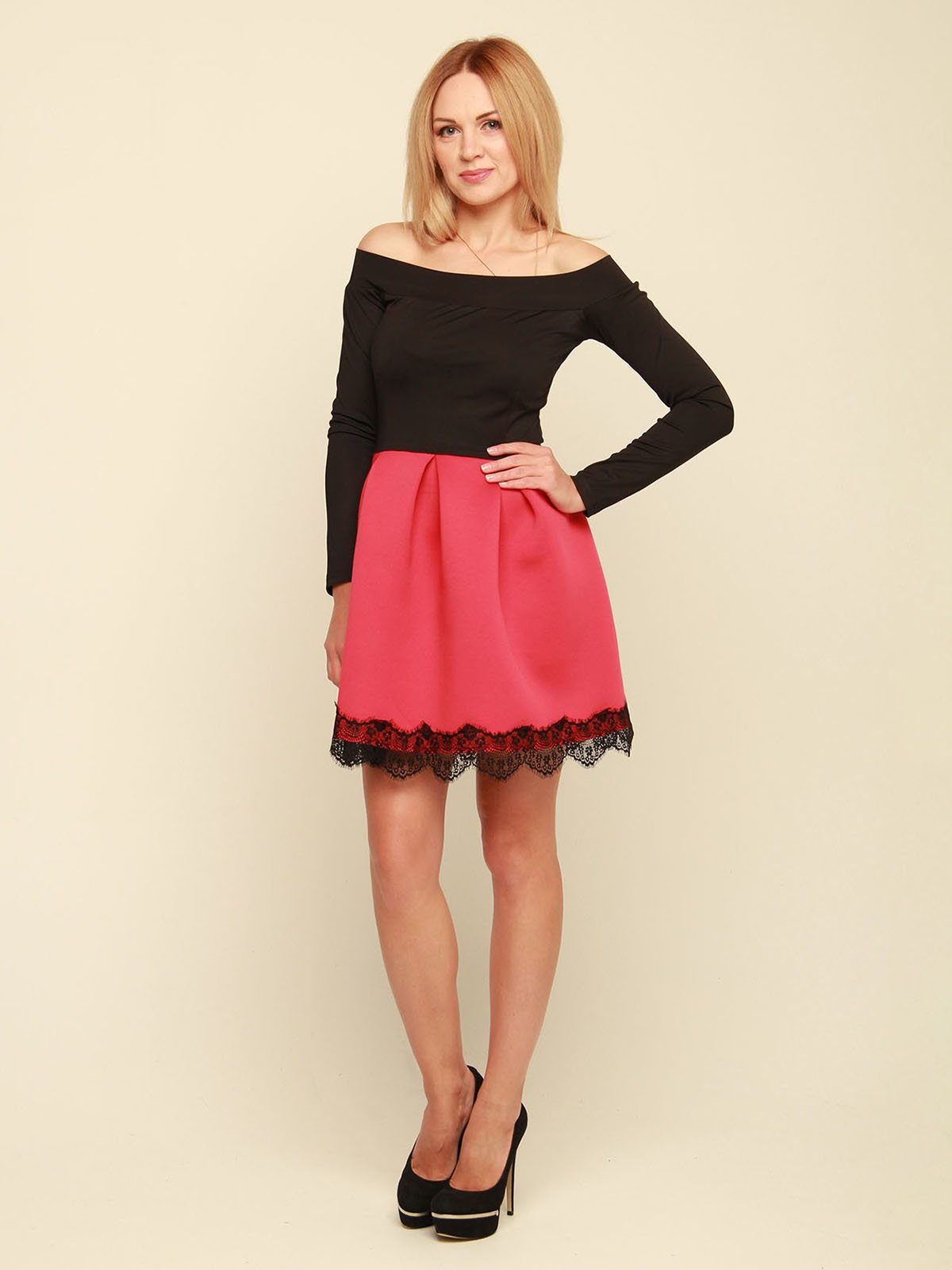 Платье двухцветное | 3710829 | фото 2