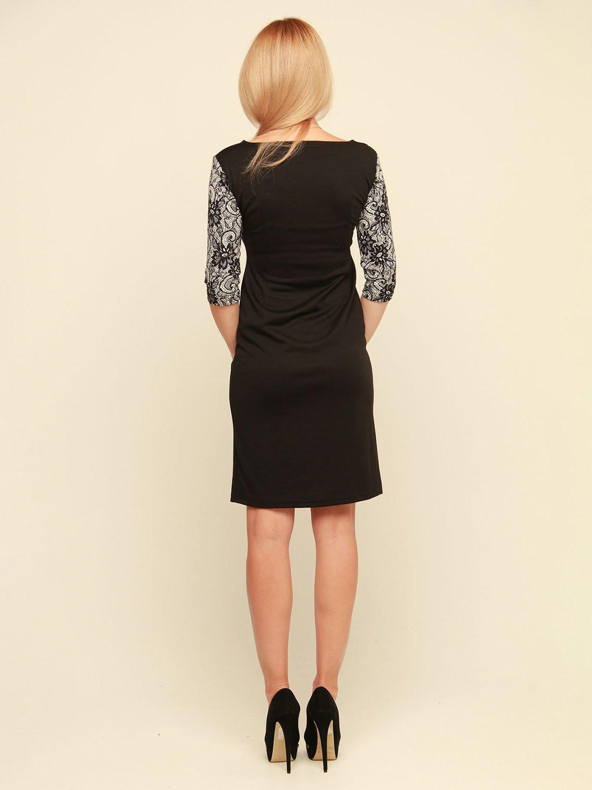 Сукня чорна з принтом | 3710839 | фото 3