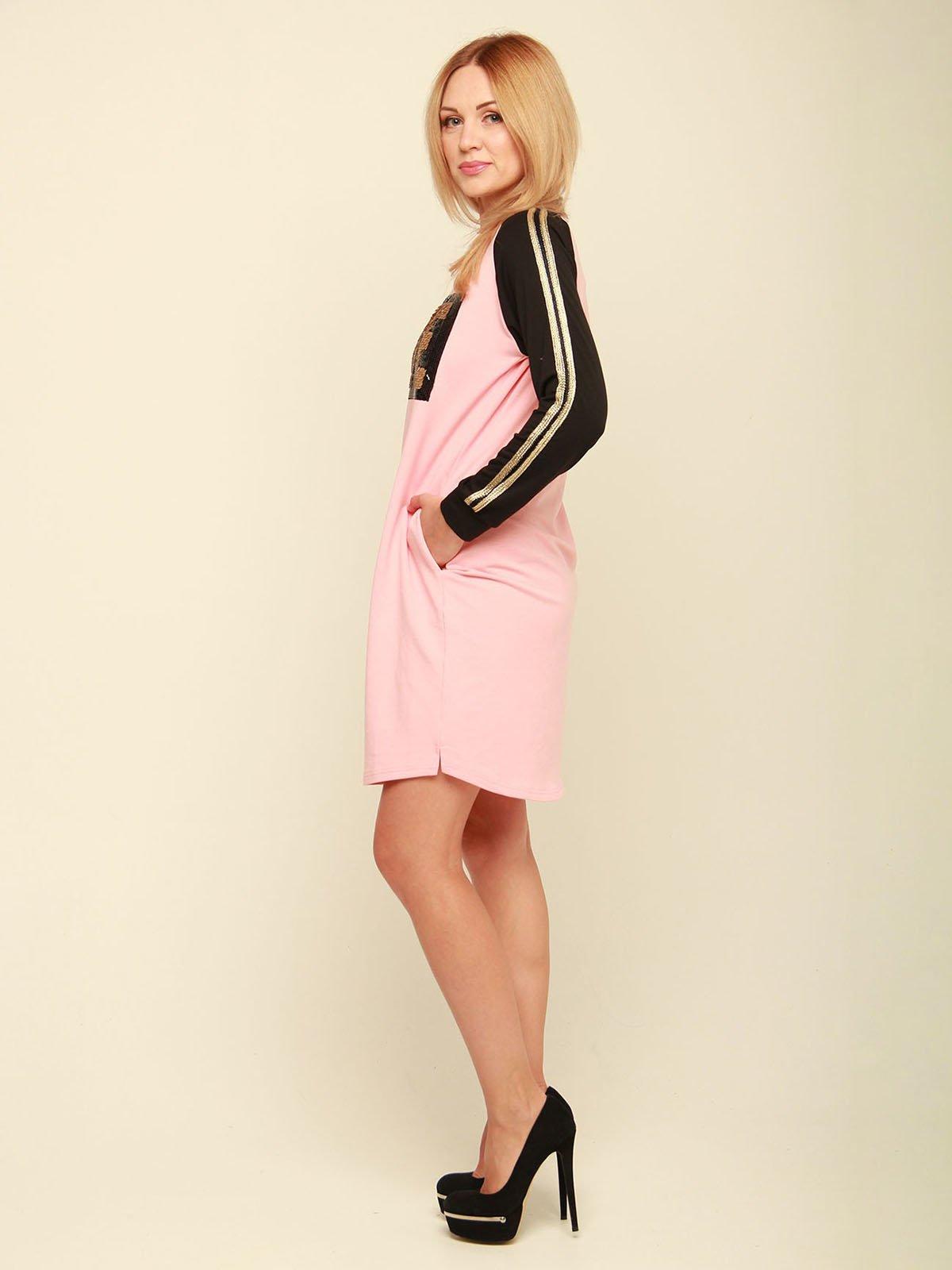Сукня рожева з написом | 3710842 | фото 2