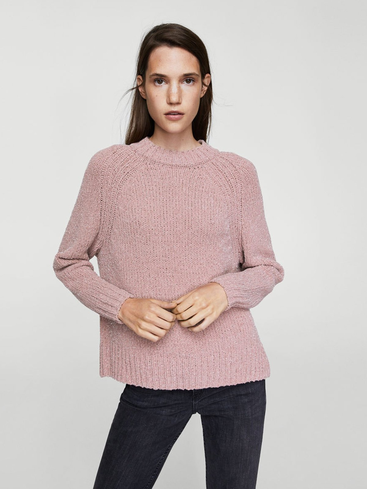 7feea639f7c Джемпер розовый — Mango