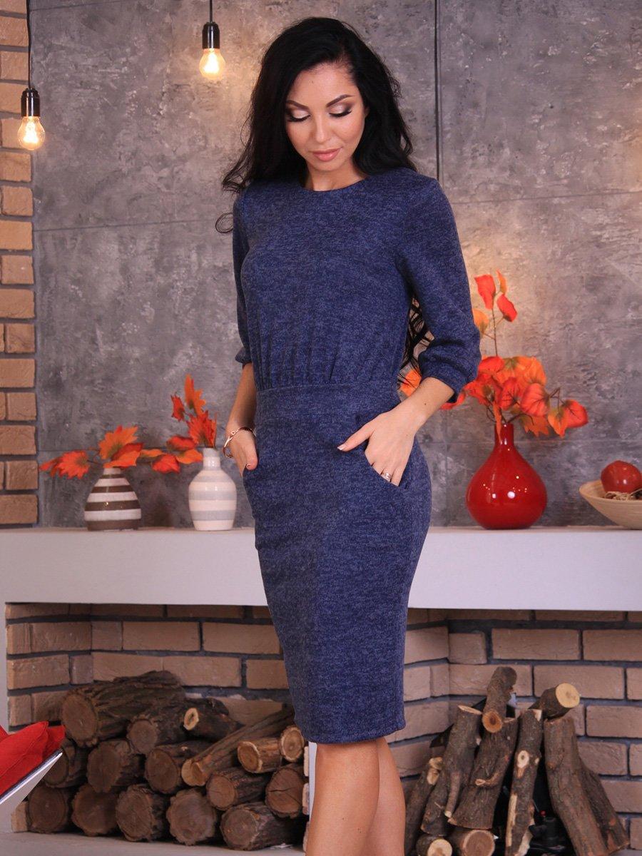 Платье темно-синее | 3717438