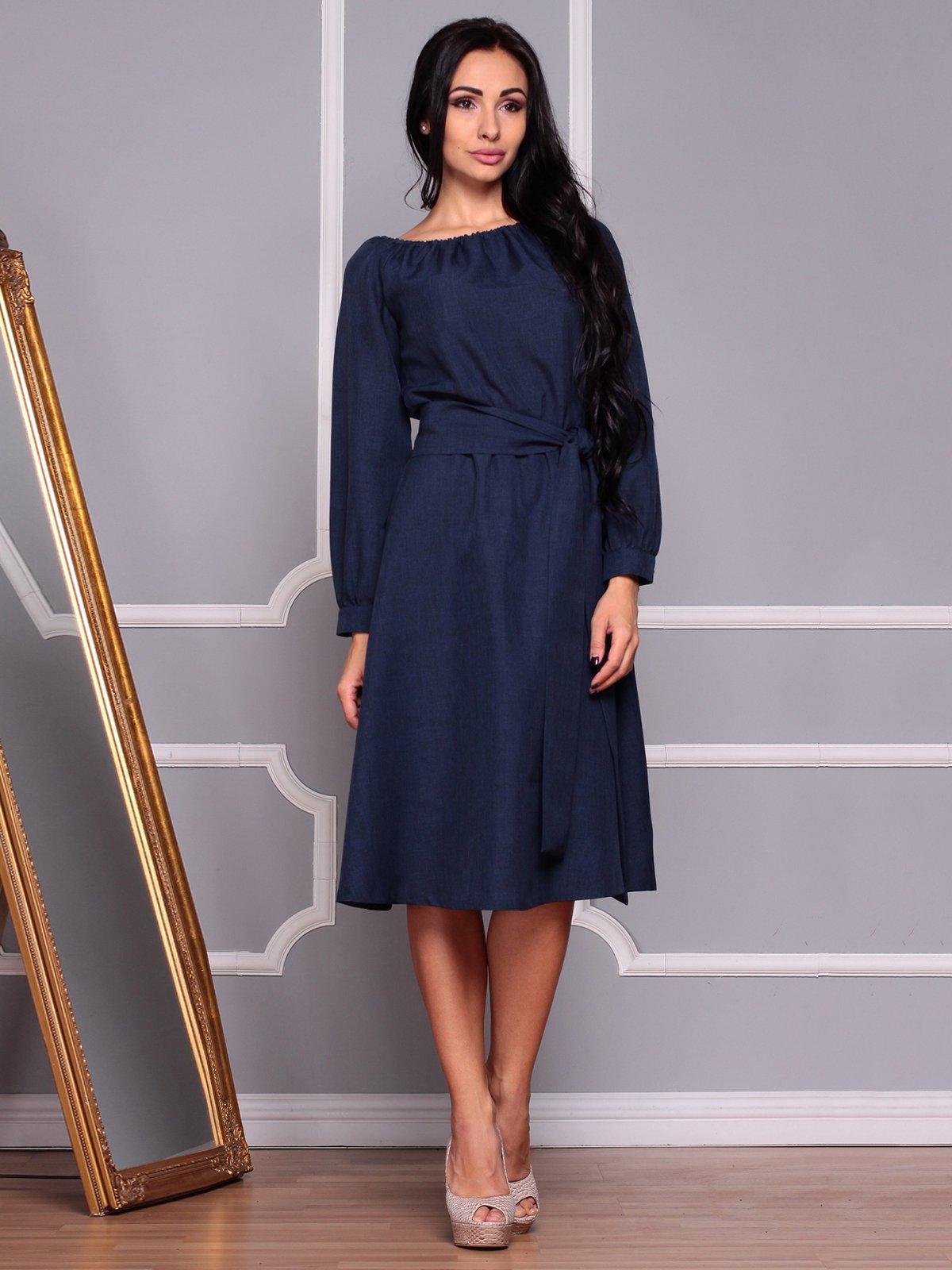 Платье темно-синее | 3719827