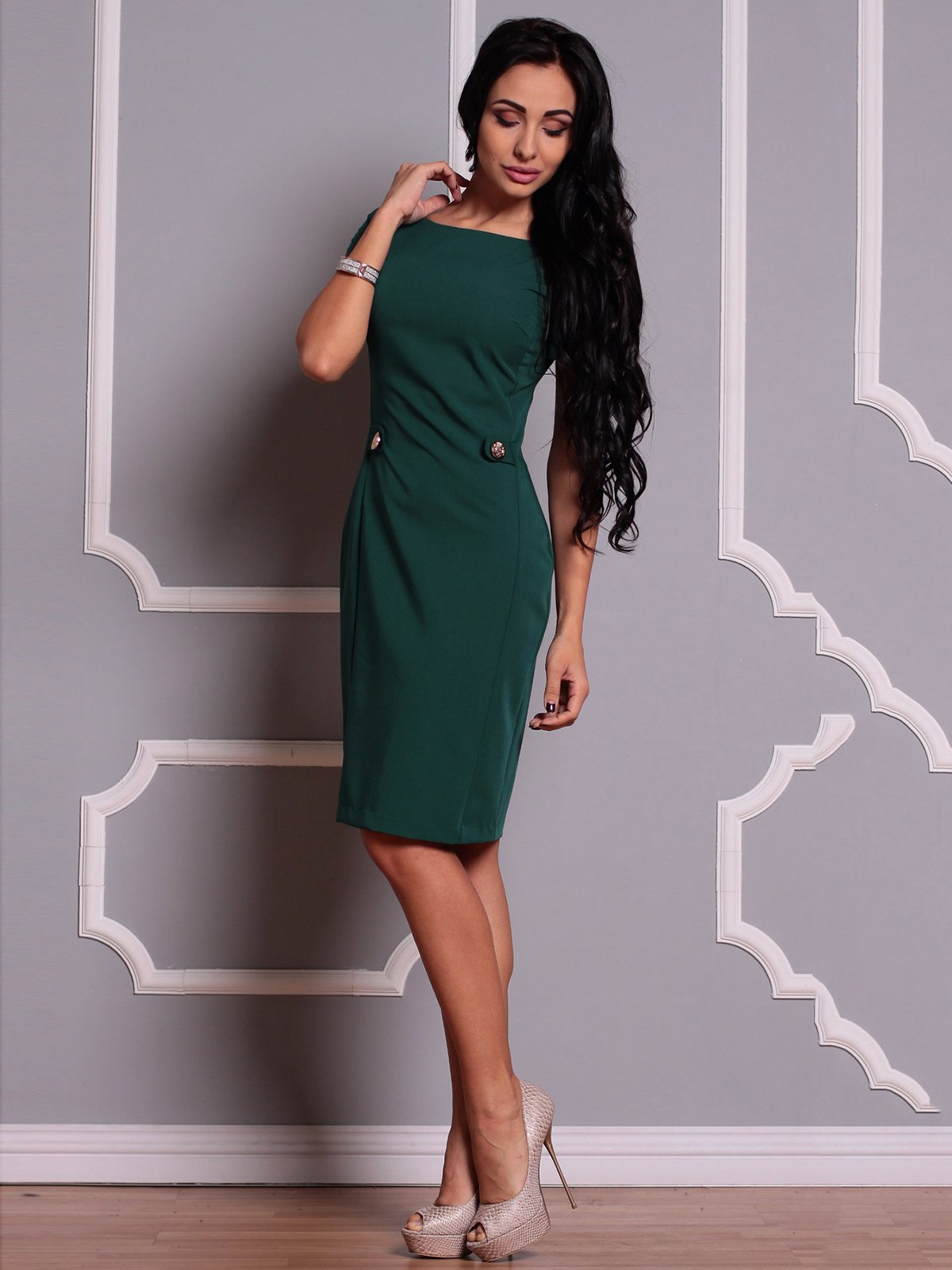 Сукня темно-смарагдова | 3719854