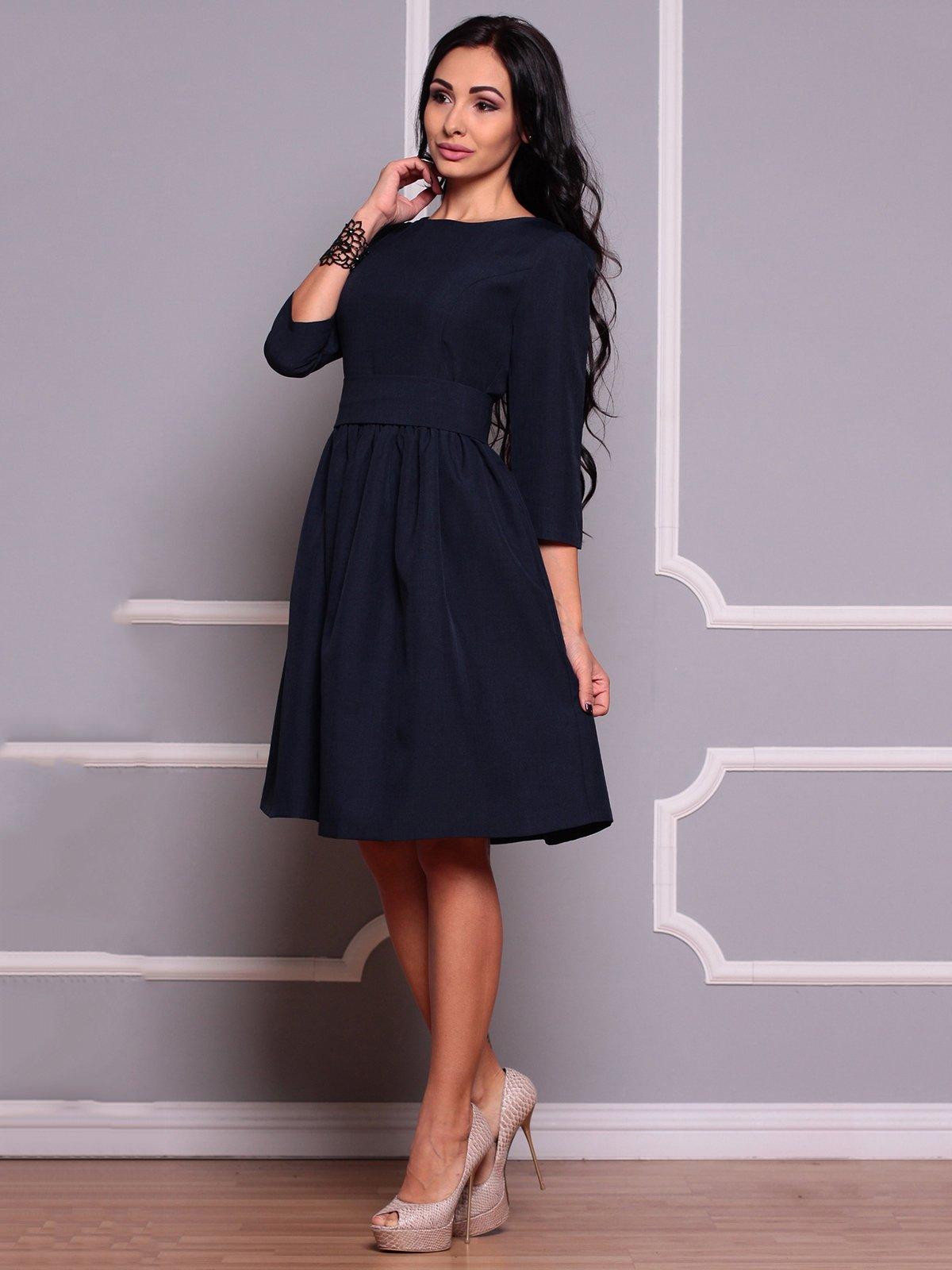 Платье темно-синее | 3719858