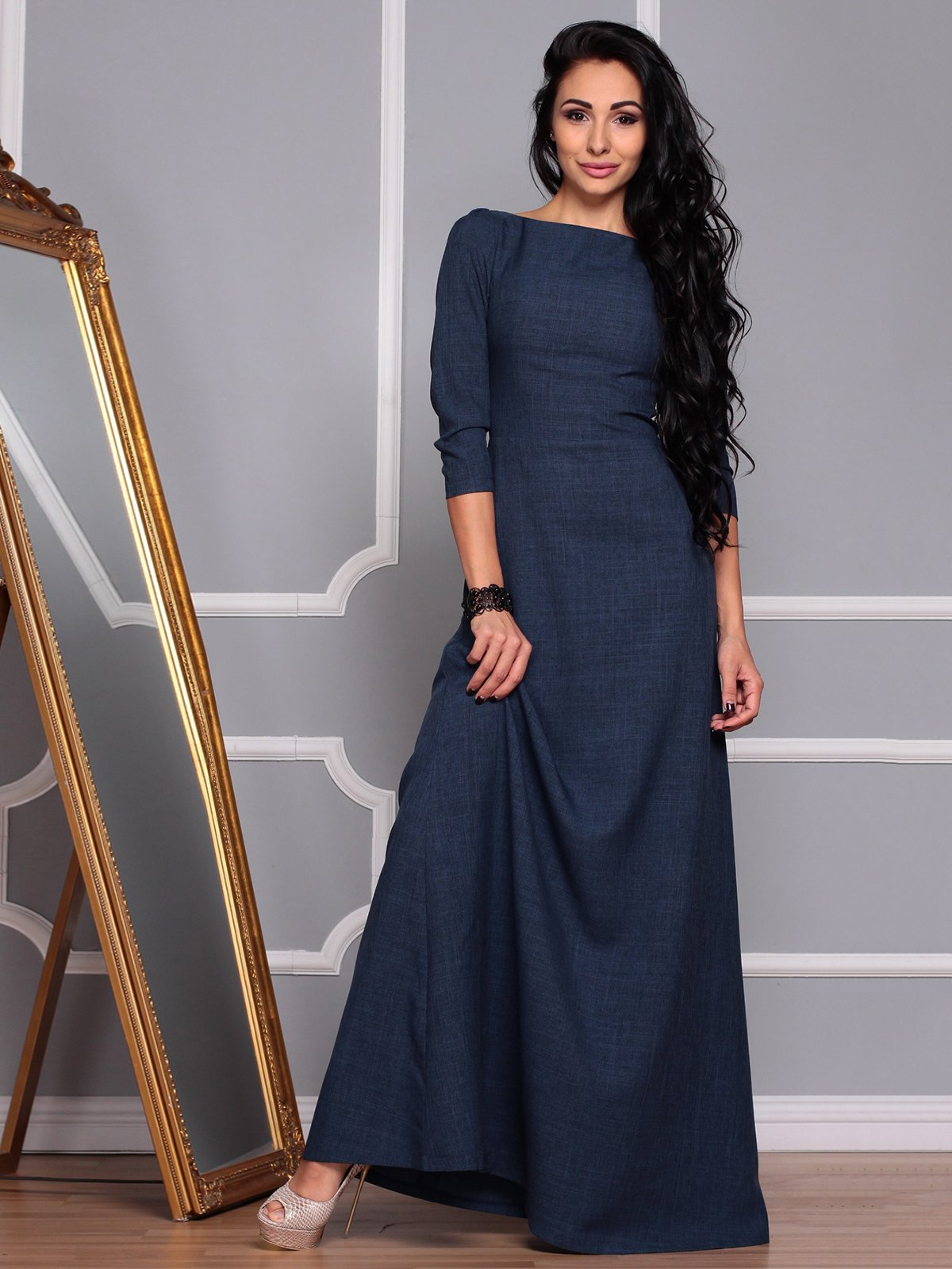 Платье темно-синее | 3719869 | фото 5