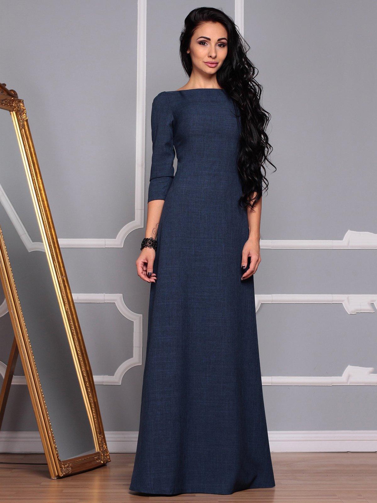 Платье темно-синее | 3719869