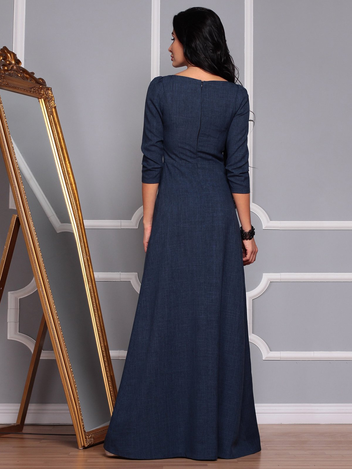 Платье темно-синее | 3719869 | фото 2