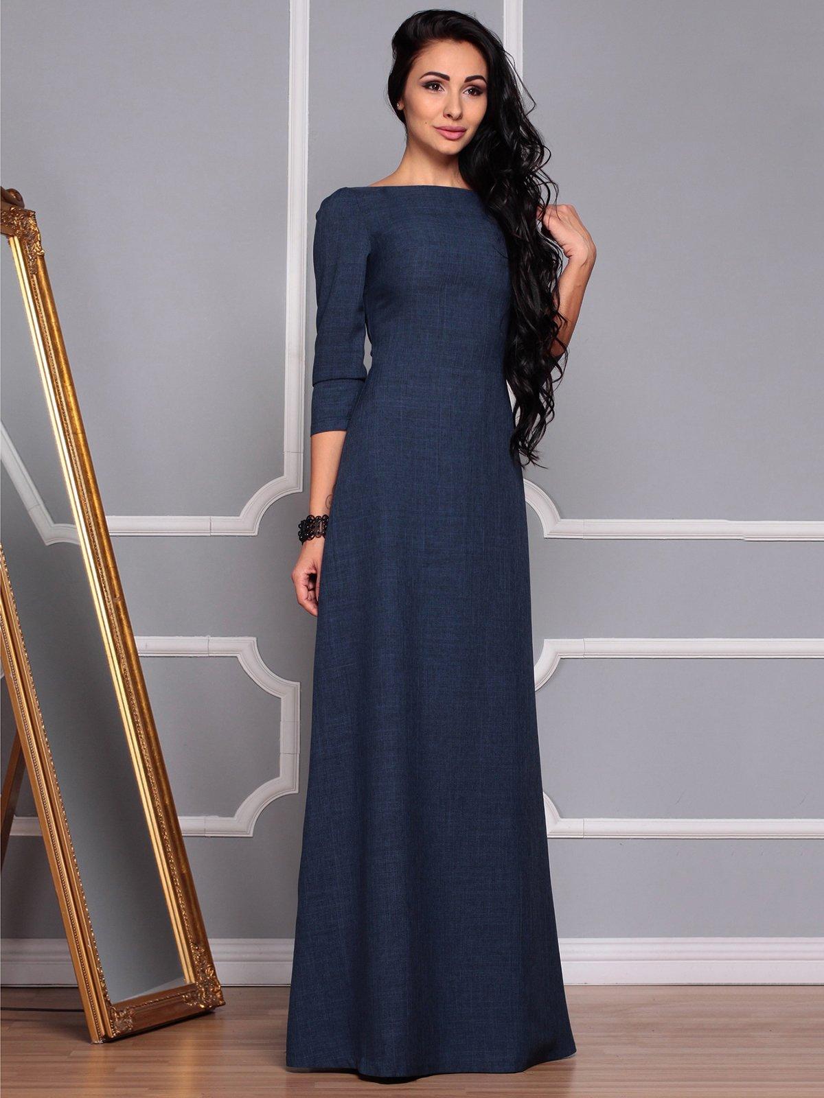 Платье темно-синее | 3719869 | фото 4