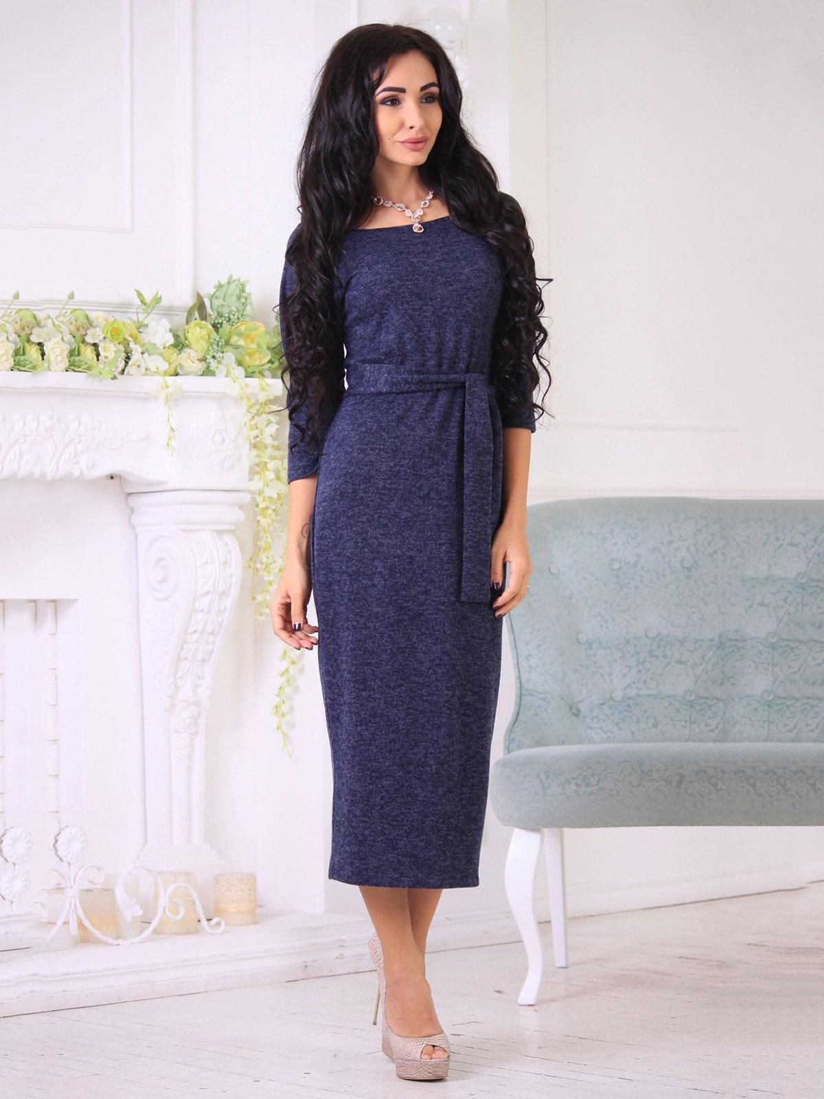 Платье темно-синее | 3723619