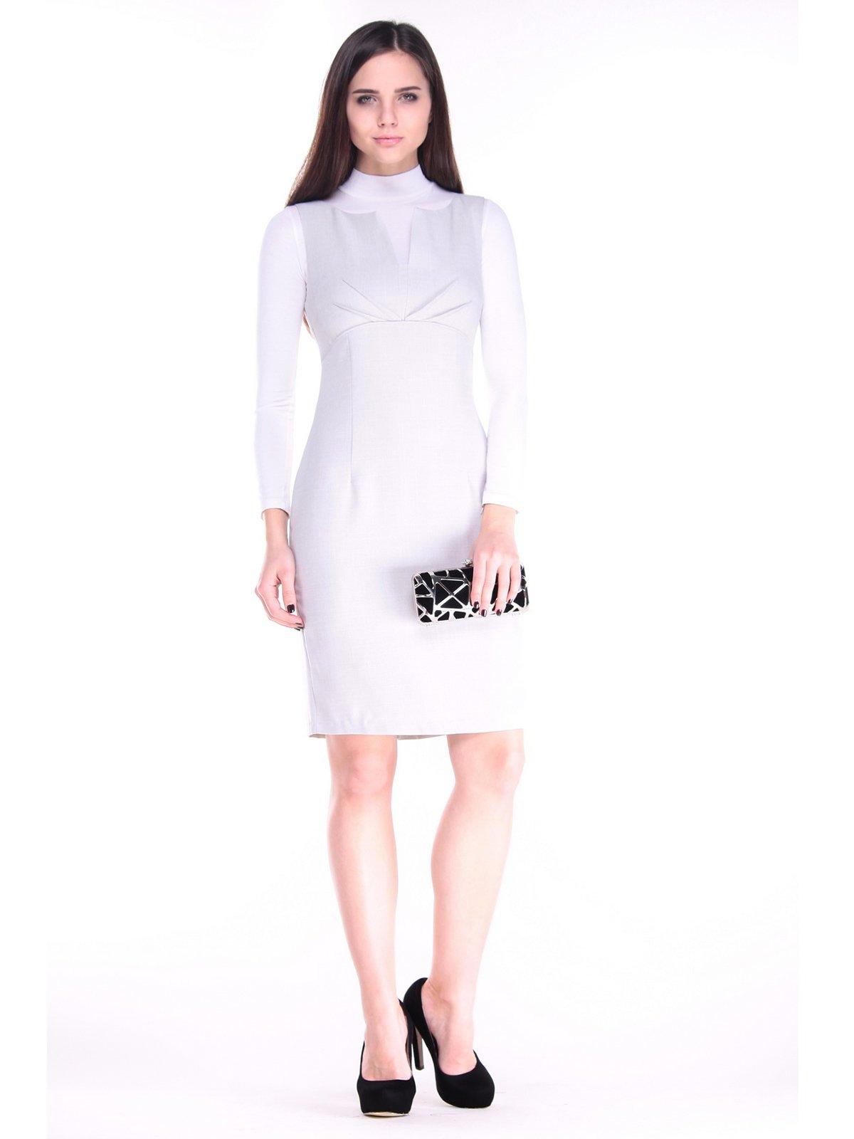 Сукня біло-сіра   3731837