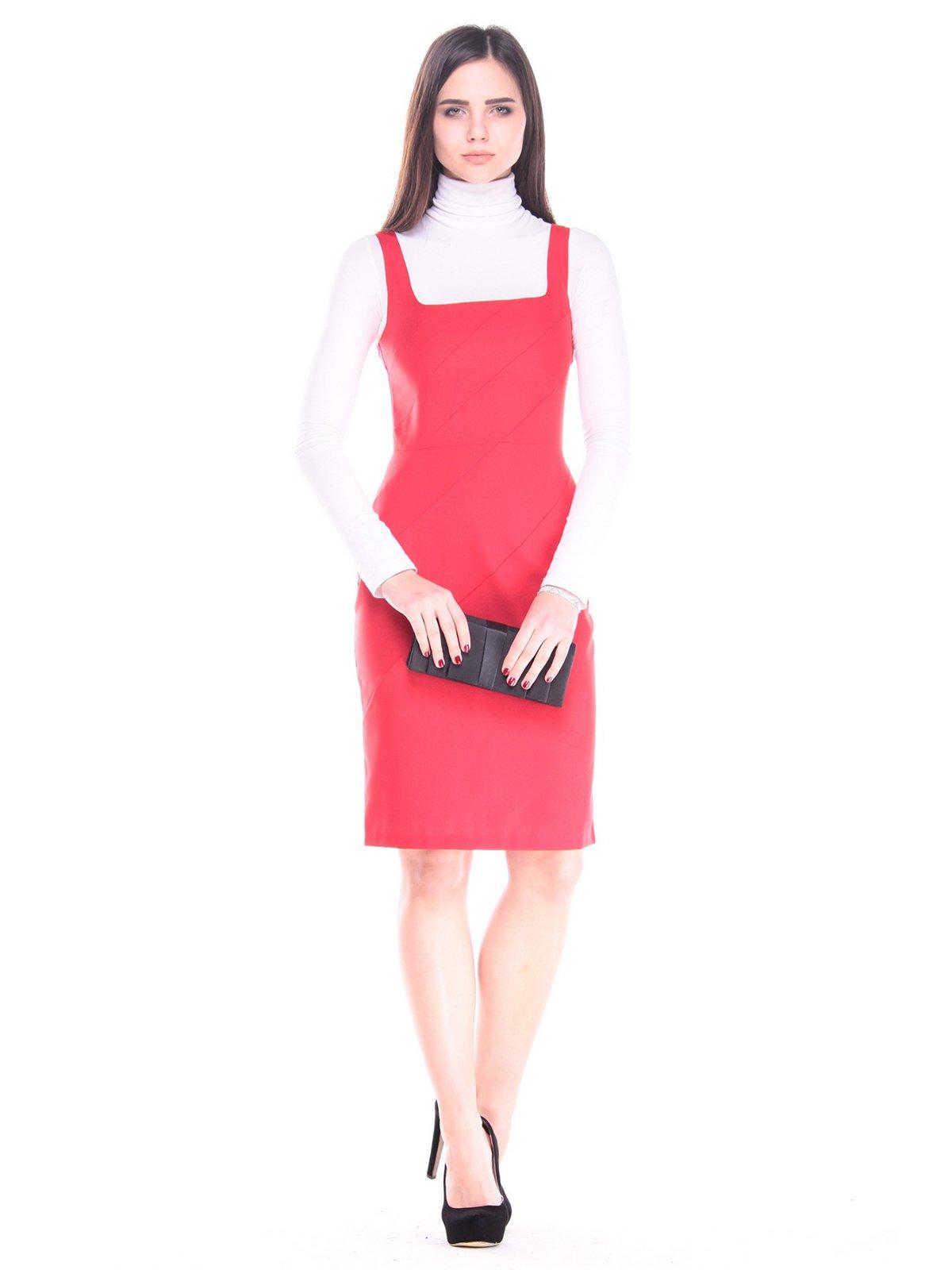 Платье-сарафан красное | 3731867
