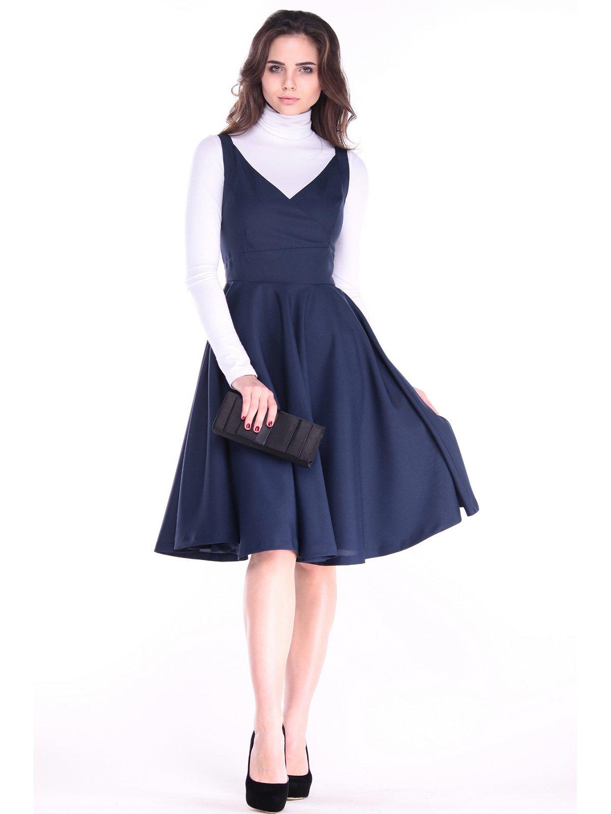 Платье темно-синее | 3732017