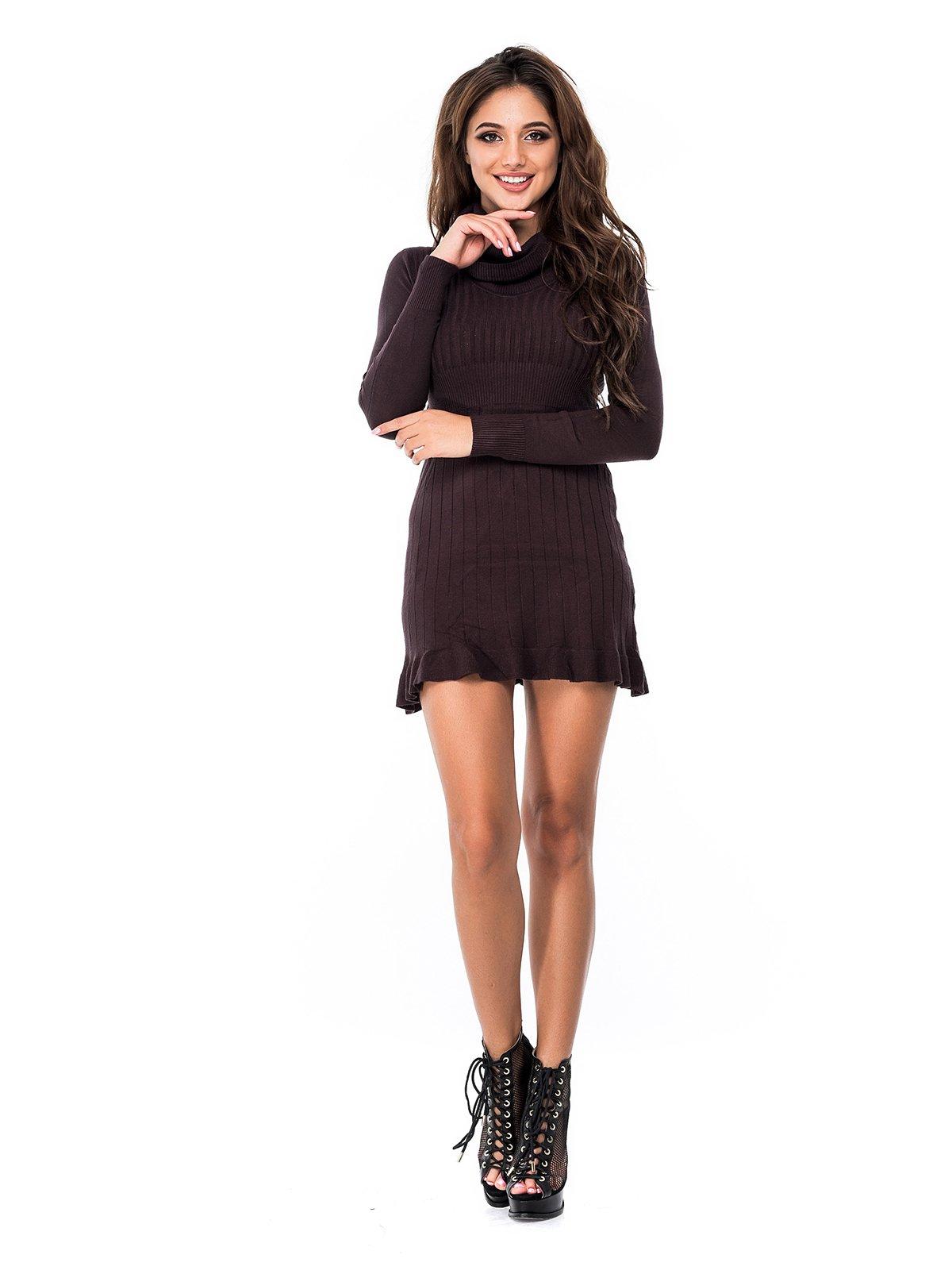 Платье темно-коричневое | 3688224
