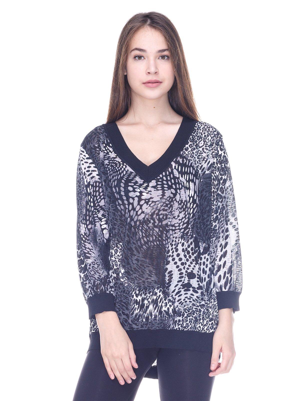Пуловер в принт | 3734039