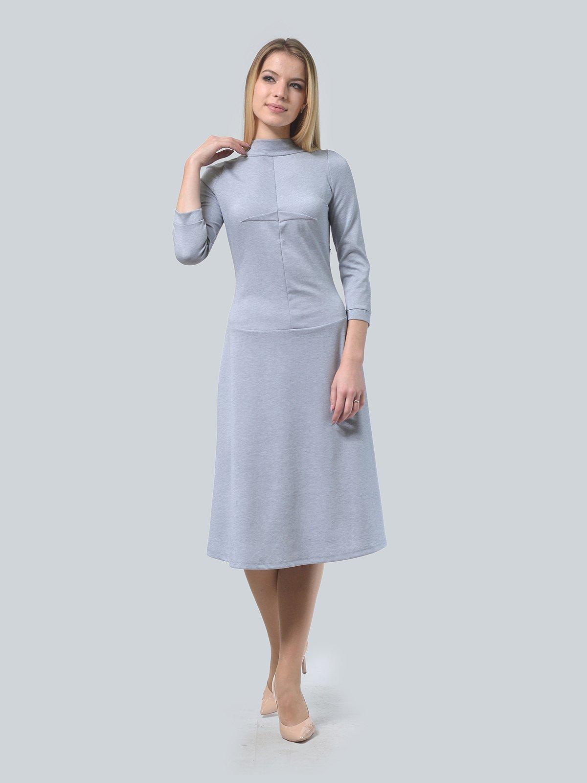 Платье серое | 3735971 | фото 2