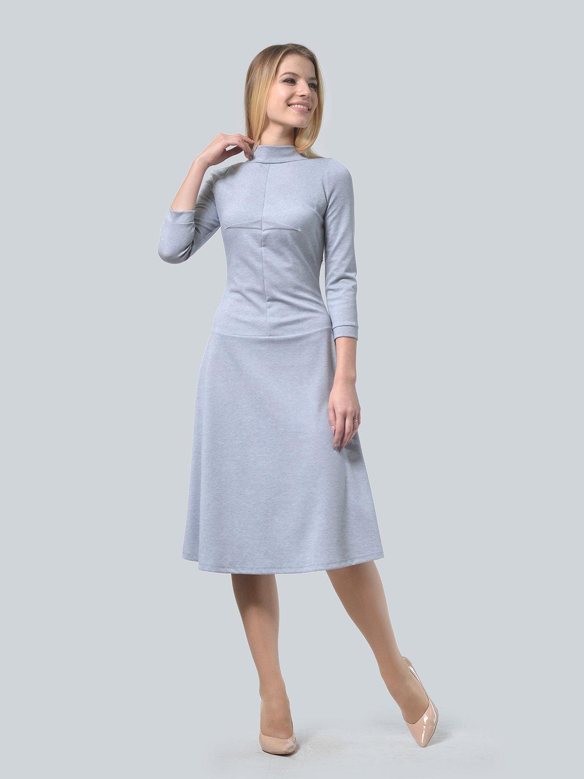 Платье серое | 3735971 | фото 3