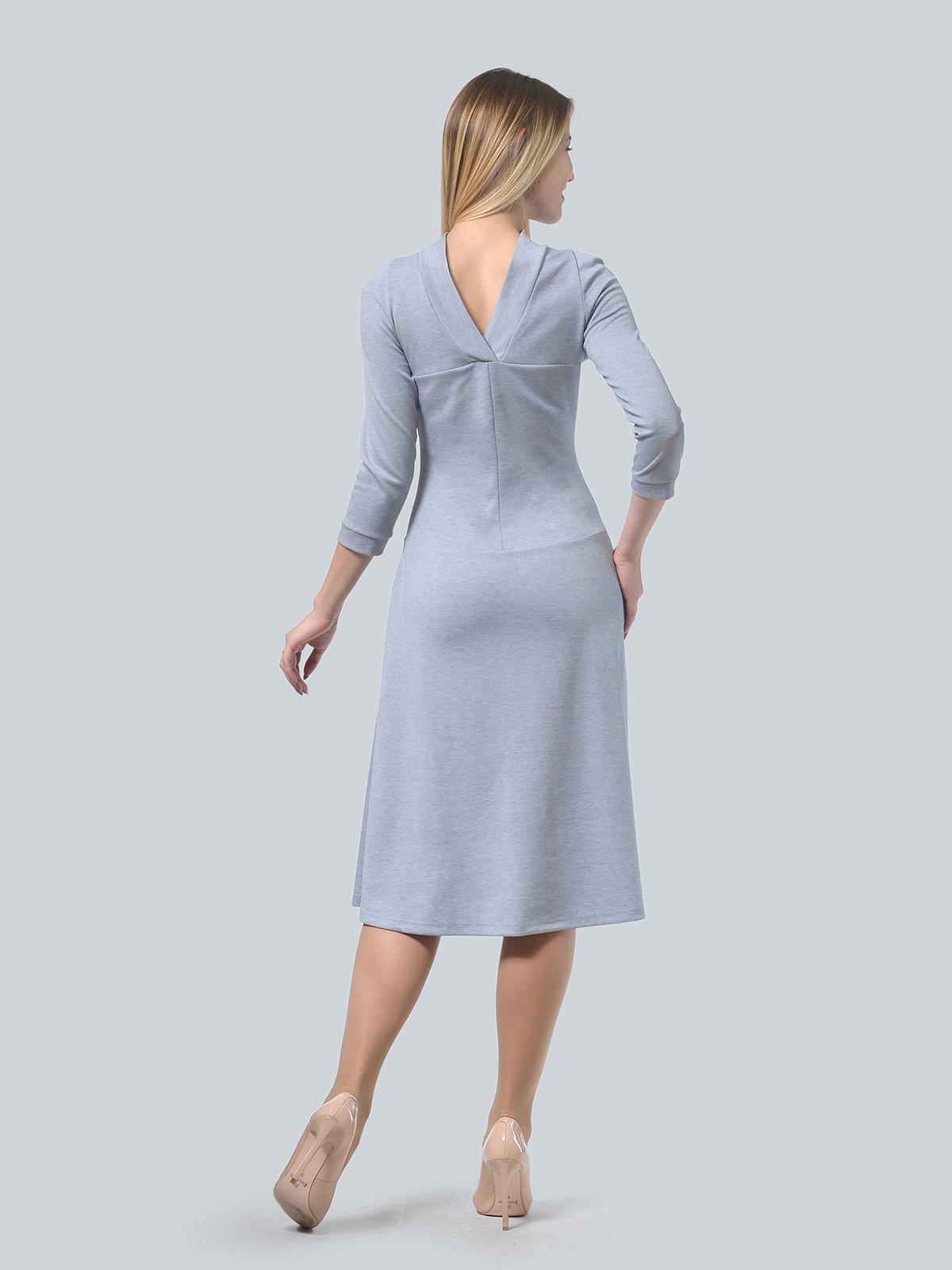 Платье серое | 3735971 | фото 4