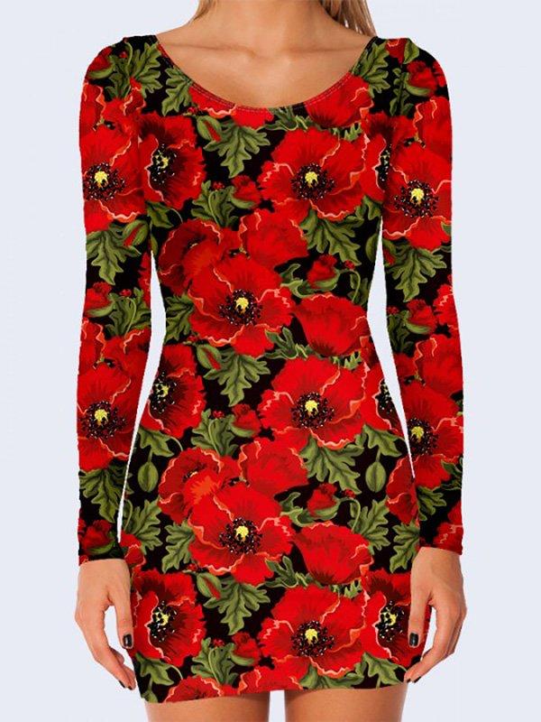 Платье с цветочным принтом   3736918