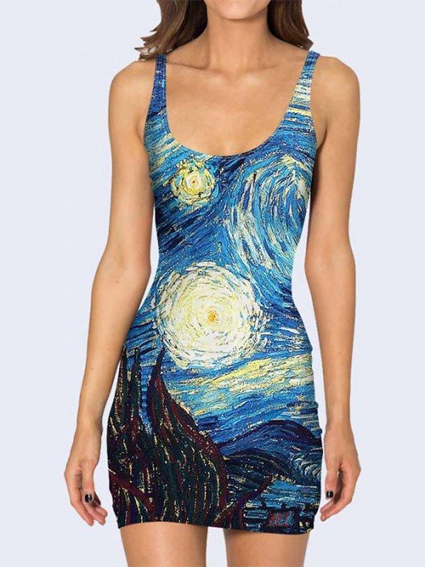 Платье с принтом | 3736945