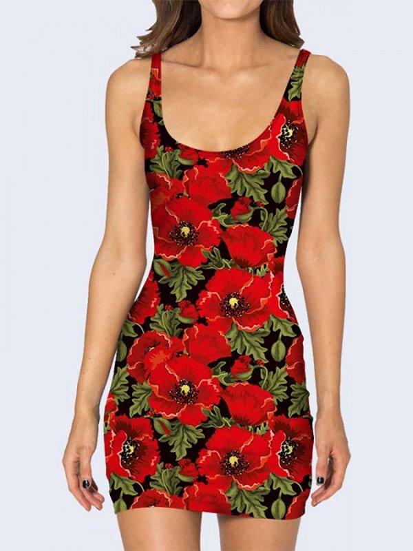 Платье с цветочным принтом | 3736948