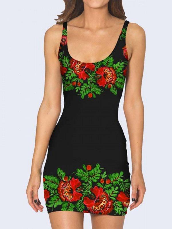 Платье с цветочным принтом | 3736950