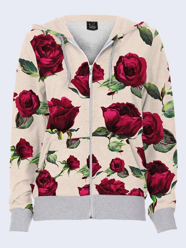 Толстовка с цветочным принтом   3737073