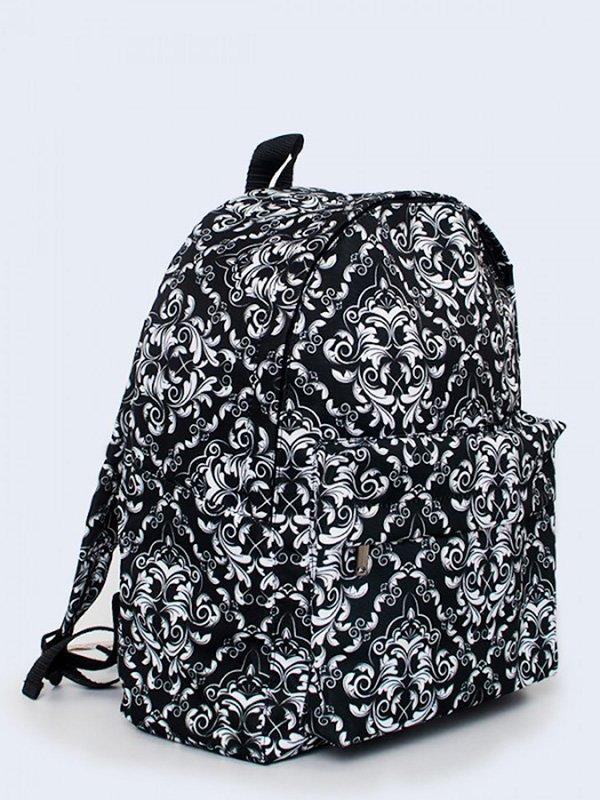 Рюкзак черный с узором | 3738148