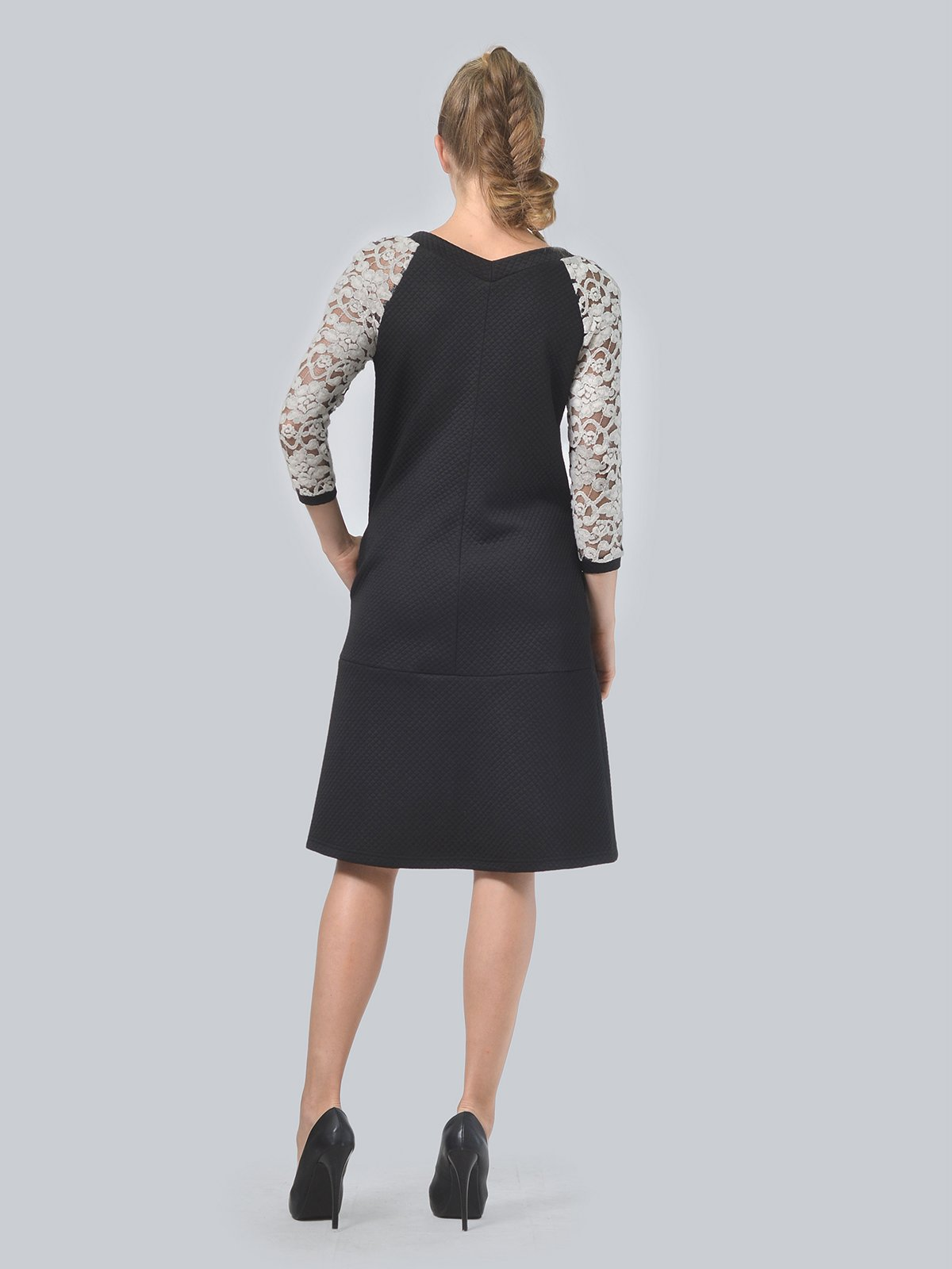 Платье черное | 3724260 | фото 4