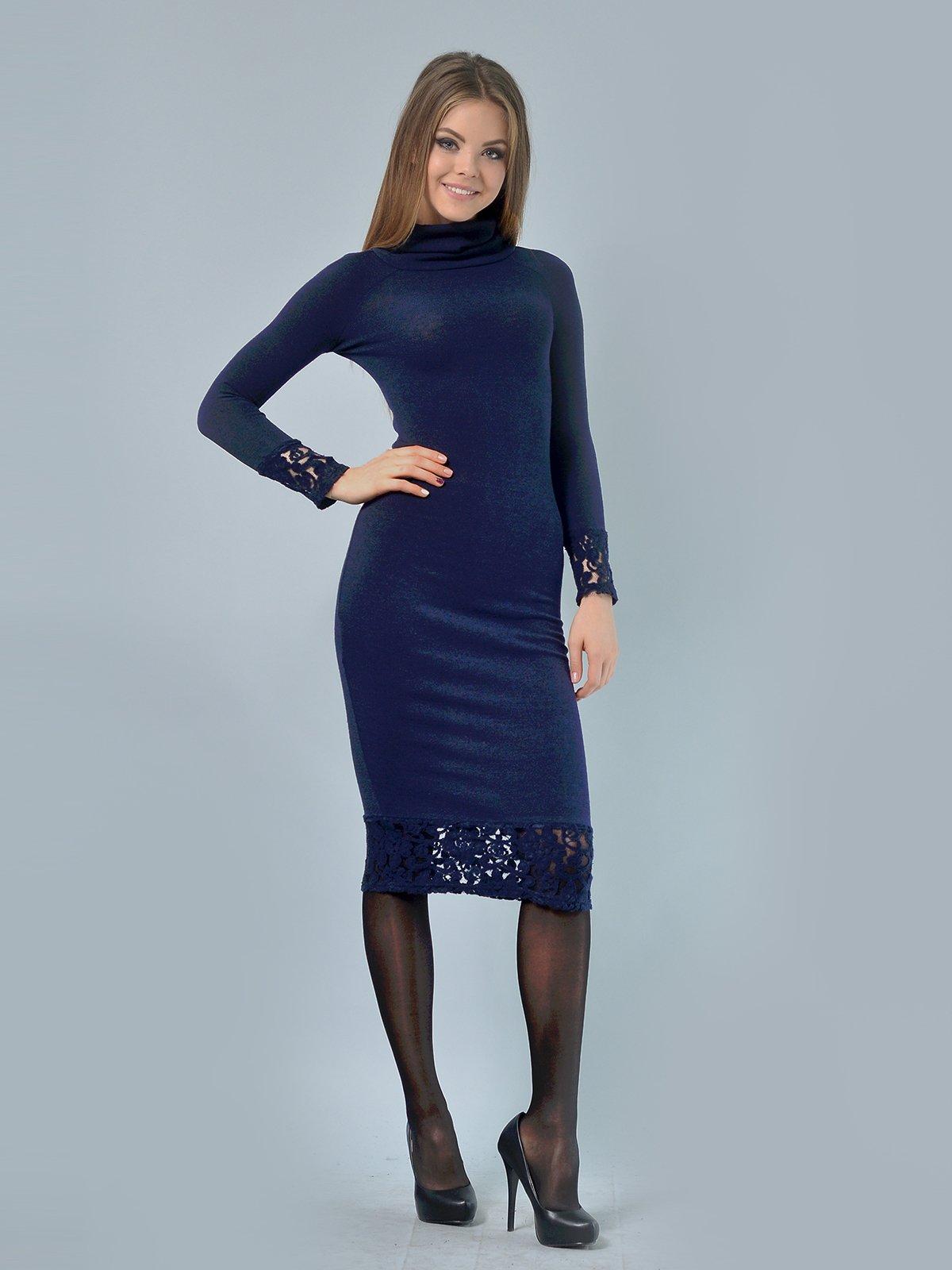 Платье темно-синее | 3724301 | фото 2