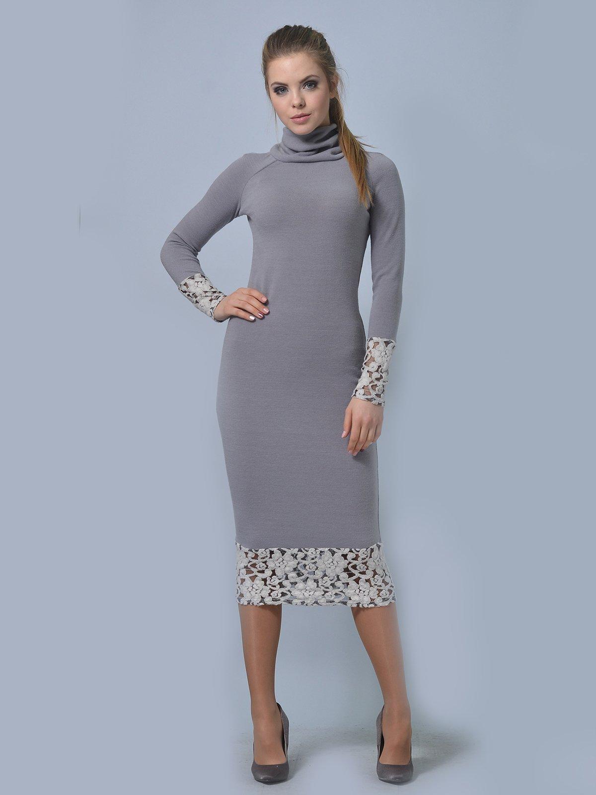 Платье светло-серое   3724302