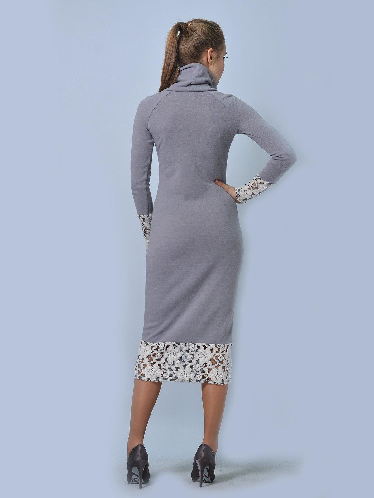Платье светло-серое   3724302   фото 2