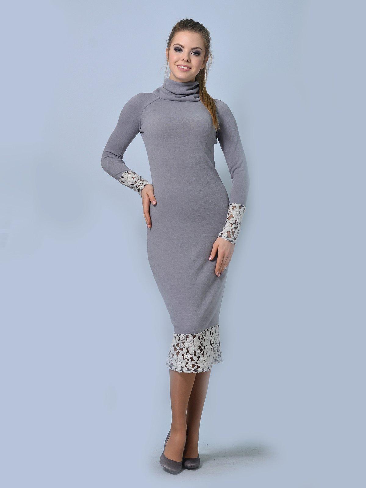 Платье светло-серое   3724302   фото 3