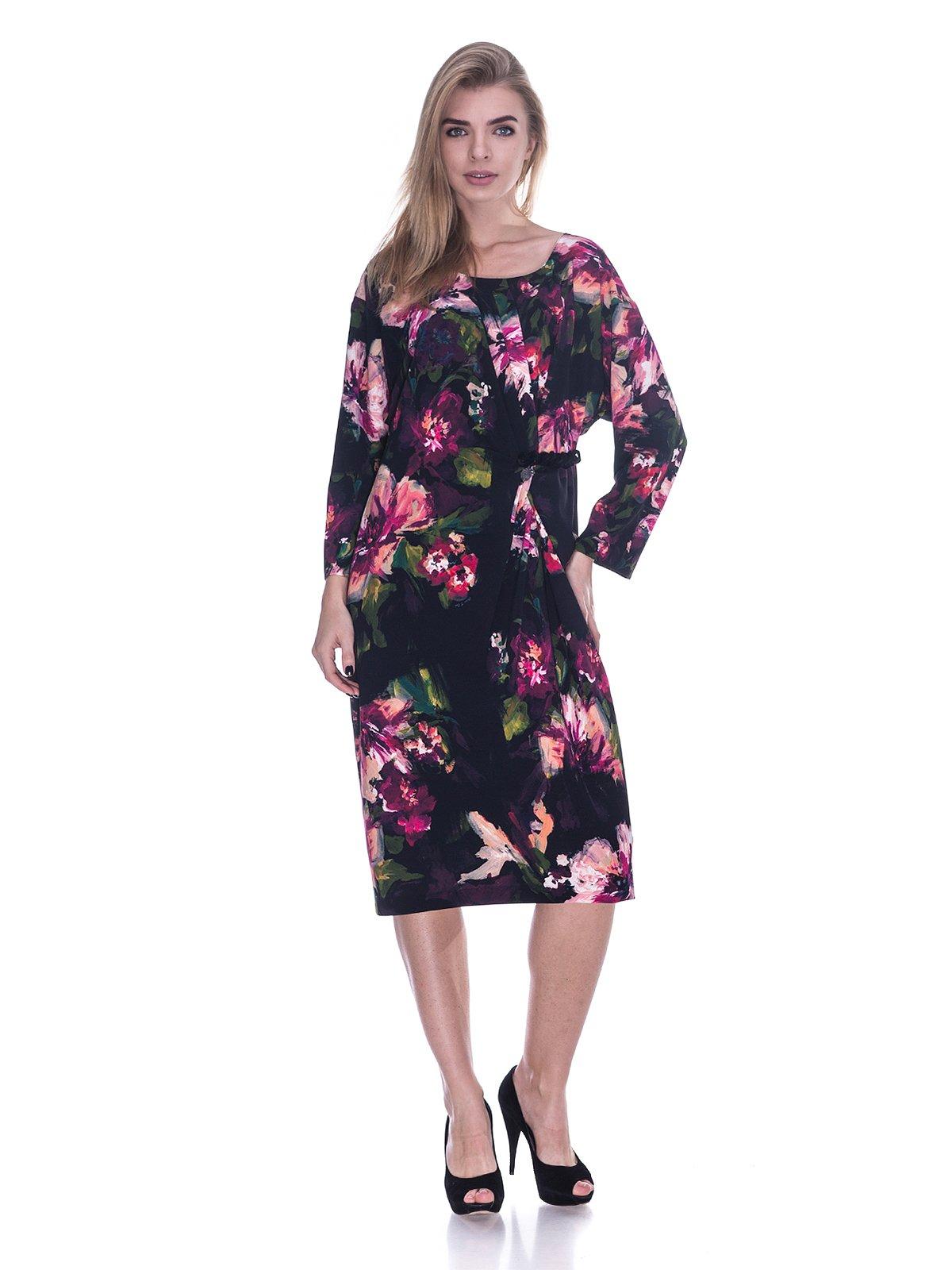 Сукня чорна в квітковий принт | 3733708